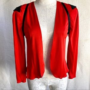 Vintage 70s S/M Light Open Jacket Layer Sequins